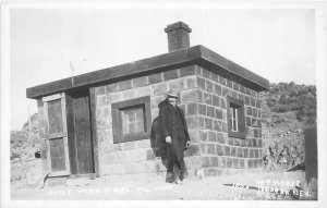 H18/ Tonopah Nevada RPPC Postcard c50s House Made of 5-Gallon Oil Cans