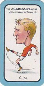 Carreras Small Vintage Cigarette Card The Nose Game No C5 The Aggressive Nose...