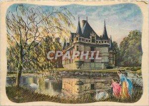 Modern Postcard Azay le Rideau Indre et Loire