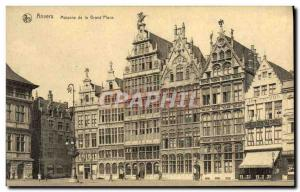 Old Postcard Antwerp Houses of the Grand Place