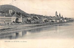 Austria Greetings from Stein an der Donau River General view Postcard