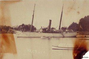 REAL PHOTO OF USS RUSH UNKNOWN ERA