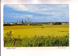 Wheat Field and Oil Refinery, Alberta Gold, Photo Sutton