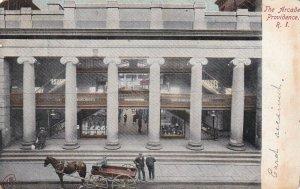 PROVIDENCE, Rhode Island, PU-1908; The Arcade, Horse-Drawn Carriage