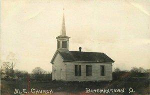 Batemantown 1908 Middlebury Township Ohio M E  Church Photo Postcard 9501