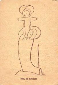 Ime, az Ember! M. Kakonyi Konstantina rajza. Vac. Hungary drawing