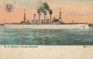 U.S. Armored Cruiser, COLORADO, 1900-10s