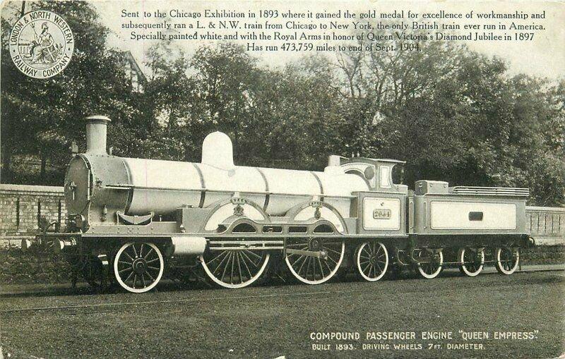Chicago Illinois Exhibition Compound Passenger Train Postcard 10870