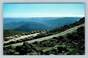 Mt Washington NH- New Hampshire, Mt Top Looking into Vermont, Chrome Postcard