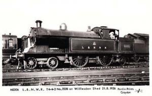 Willesden Shed Prospero Prince Of Wales Train Railway Photo Postcard