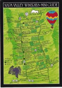CALIFORNIA, PU-1995; Napa Valley Wineries Mini Guide