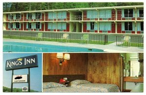 Kingston Tennessee Postcard Multi-view King's Inn Motel Interior Exterior #75912