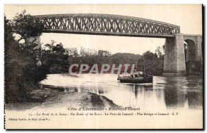 Old Postcard Cote Emeraude Emerald Coast The Fords of the Rance The Bridge Th...