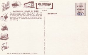 10730 San Francisco-Oakland Bay Bridge California 1961