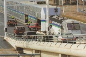 Cars Loading Calais Terminal Eurotunnel Le Shuttle Postcard