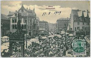 Ansichtskarte  VINTAGE POSTCARD: GERMANY -   Mainz 1909 - MARKT