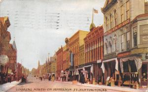 Huntington Indiana~Jefferson Street~Wholesale Retail Dry Goods Store~Clock~1908