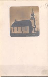 Britt Iowa~Prairie Center Methodist Episcopal Church~1909 Real Photo~RPPC