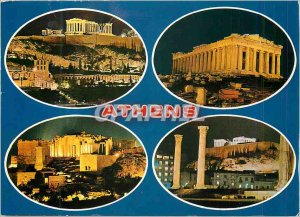Postcard Modern Athens The Antiques illuminated
