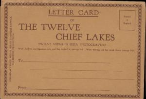 letter card The Twelve Chief Lakes UK