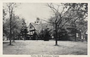 WAYNESBORO, Virginia, 1930-50s; Fairfax Hall