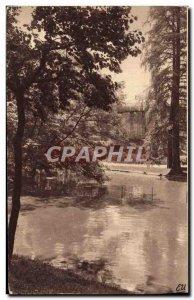 Old Postcard The Picturesque Bordeaux Public Garden Greenhouses