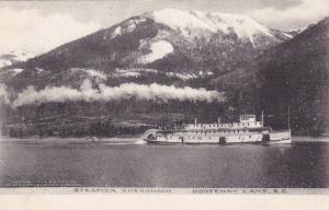 Steamer KUSKONOOK , Kootenay Lake , B.C. , Canada , PU-1907