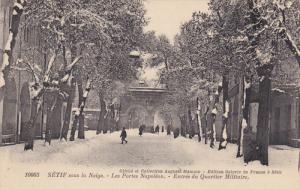 SETIF, Algeria, 1900-1910's; Les Portes Napoleon, Entree Du Quartier Militaire