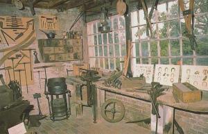 Alfriston Sussex Blacksmiths Tool Tools Blacksmith Yard Museum Craft Postcard