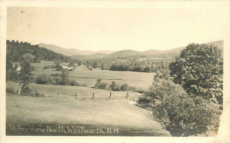 1920s Valley View North Wentworth New Hampshire RPPC real photo postcard 2171