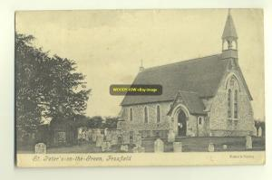 cu0359 - St Peter's on the Green Church , Froxfield , Hampshire - postcard