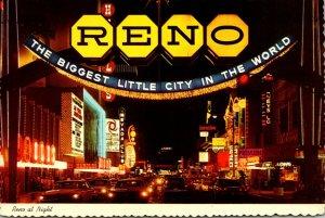 Nevada Reno Virginia Street At Night