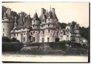 Postcard Old Usse Chateau Overview