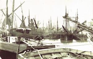 Nostalgia Postcard c1909 Garston Dock, Liverpool, Ships, Boats Repro Card NS6