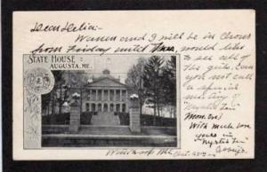 ME State Capitol AUGUSTA MAINE PC 1905 UDB Postcard