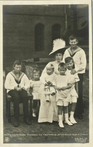 Grand Duchess Anastasia Mikhailovna of Russia with 6 Grandchildren (1910s) RPPC