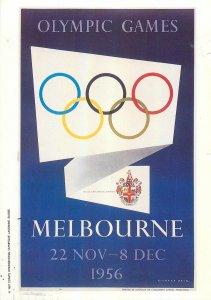 Postcard Sport Olympic games Melbourne 1956