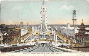 View of Dreamland Coney Island, NY, USA Amusement Park 1906