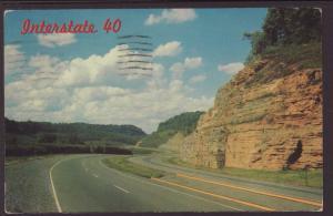 Interstate 40,Between Knoxville & Nashville,TN Postcard BIN