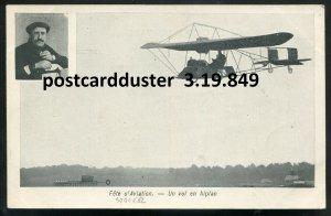849 - BELGIUM Pioneer Aviation 1910s Pilot J. Christiaens & his Biplane