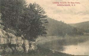 Artino C-1910 Narrowsburg New York Ross Farm Waterfront postcard 10403