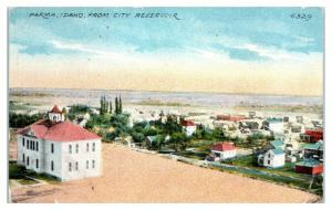 Early 1900s Parma, ID from City Reservoir Postcard *4V