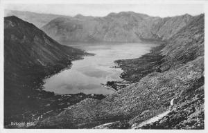 Kotor Montenegro Birds Eye View Real Photo Vintage Postcard JC932709