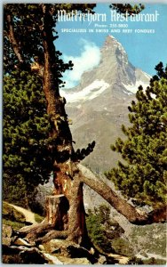 Mt. Prospect, Illinois Postcard MATTERHORN RESTAURANT Holiday Inn Hotel c1960s
