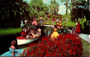 Florida Cypress Gardens Colorful Flowers and Beautiful Girls