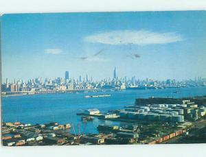 1950's JERSEY SIDE COMMERCIAL DOCKS Jersey City New Jersey NJ hp4410