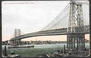 1910 New York City, Williamsburg Bridge, mailed