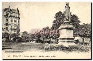 Postcard Old Square Jourdan Limoges