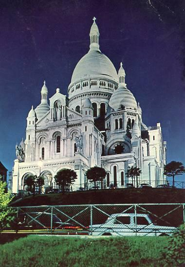 France - Paris, Sacred Heart Basilica Illuminated