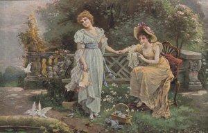 Two Victorian Women , LIEBESAHNEN by H Zatzka , 00-10s